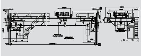 YH型淬火桥式起重机结构图