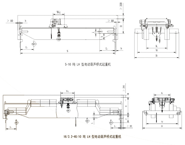 LH型电动葫芦桥式起重机结构图