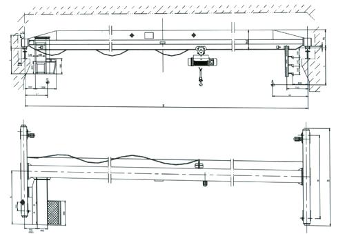电动单梁桥式起重机结构简图